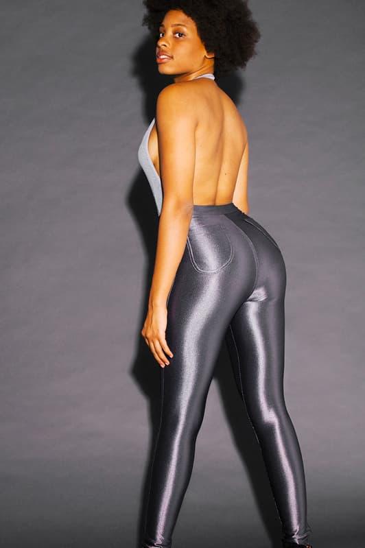 American Apparel Disco Pants Bralette Holiday Party Christmas Lookbook Metallic Shorts Midi Skirt