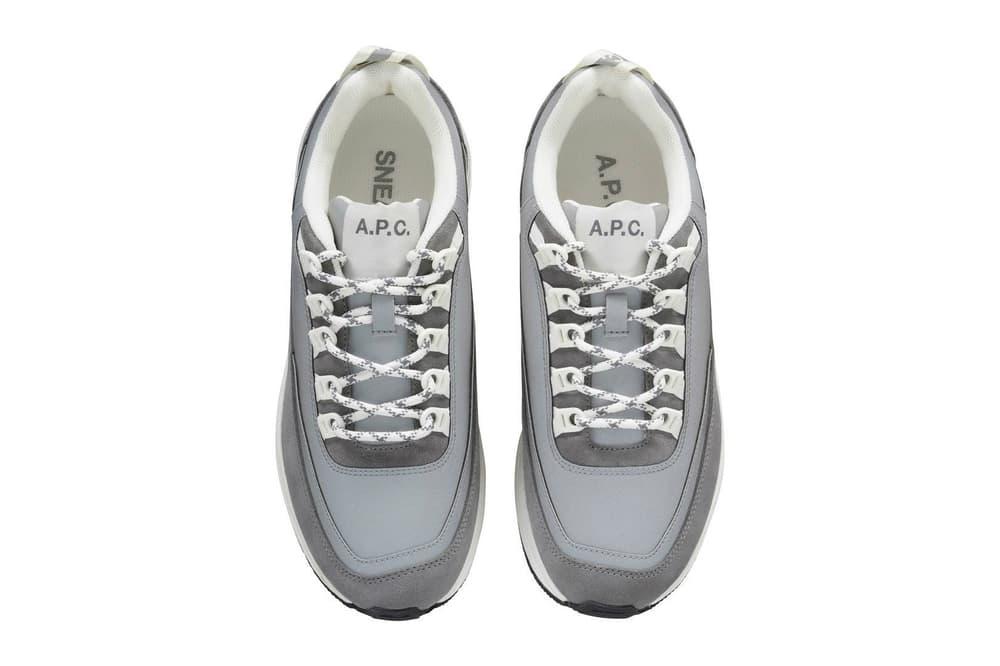 A.P.C. Sneaker Collection Minimalist Paris France Debut White Grey Brown