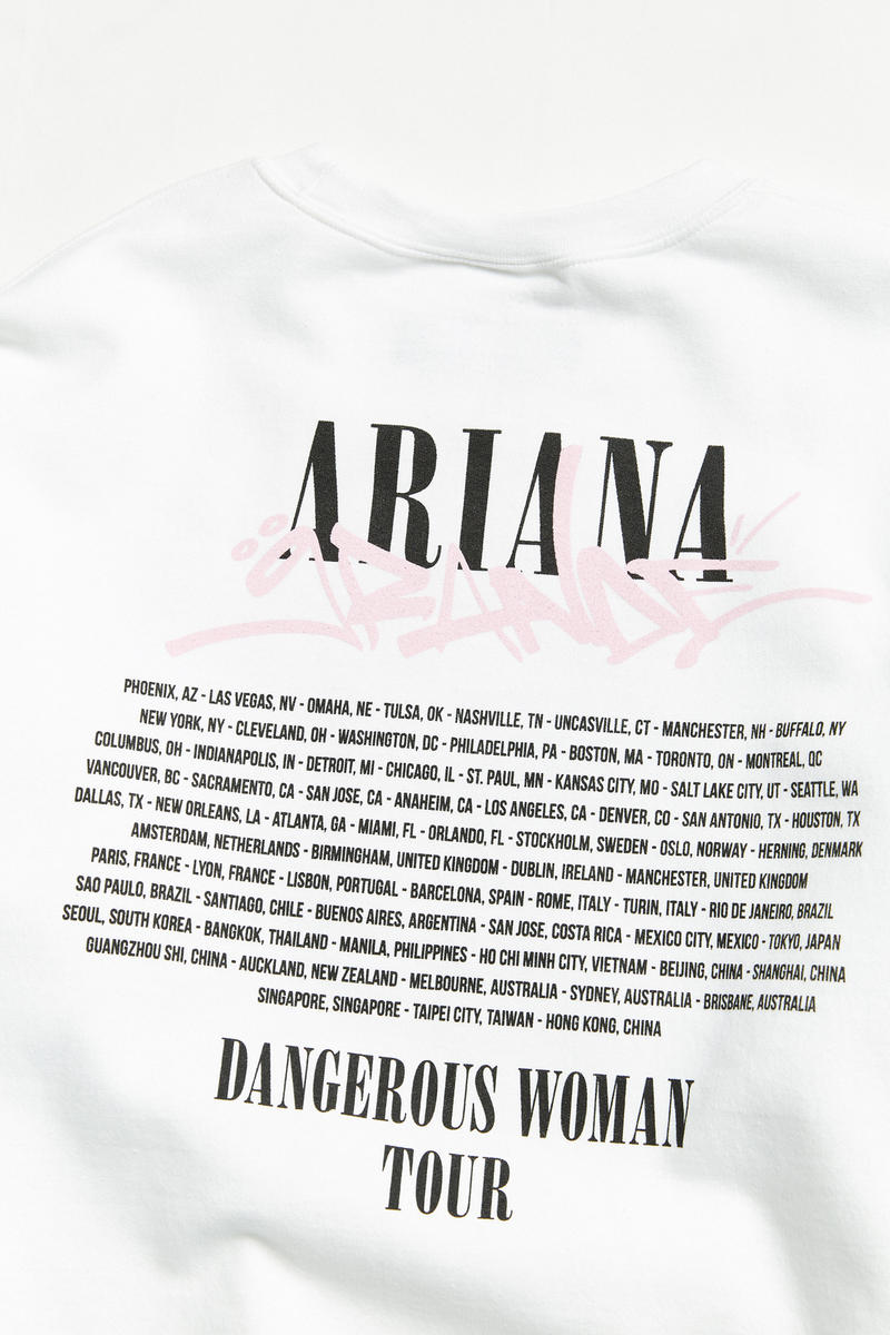 Urban Outfitters Ariana Grande Tour Merch Dangerous Woman Merchandise Capsule Collection Limited Edition