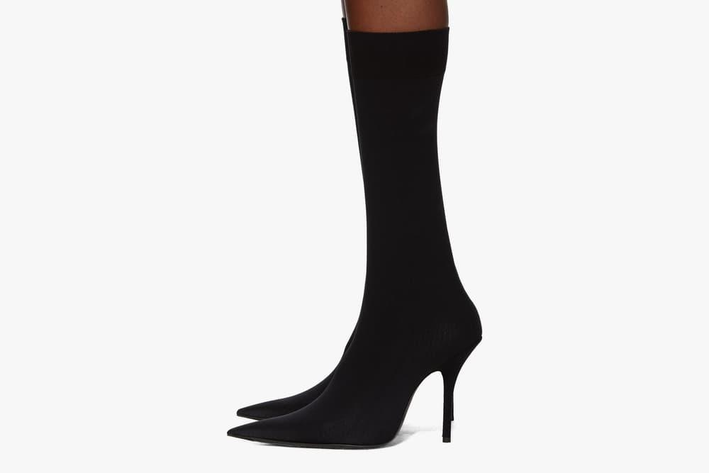 Balenciaga BB Sock Boot Black Heels Demna Gvasalia SSENSE Minimal Edgy