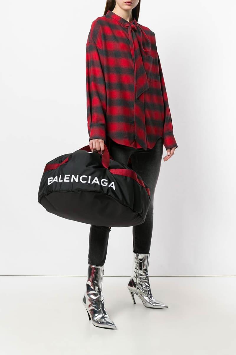 Balenciaga Wheel Bag S Black