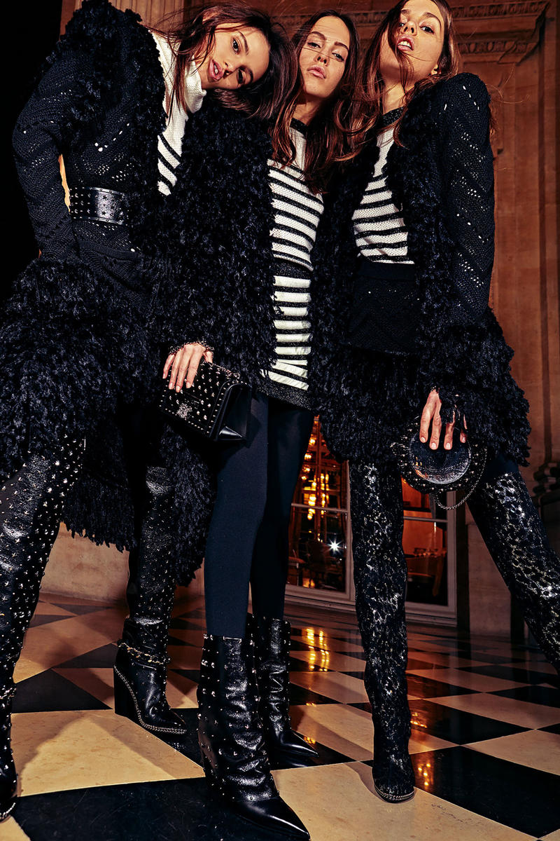 Balmain Pre-Fall 2018 Collection Lookbook Olivier Rousteing Texture Sequin Sparkle Leather Denim Statement Pieces