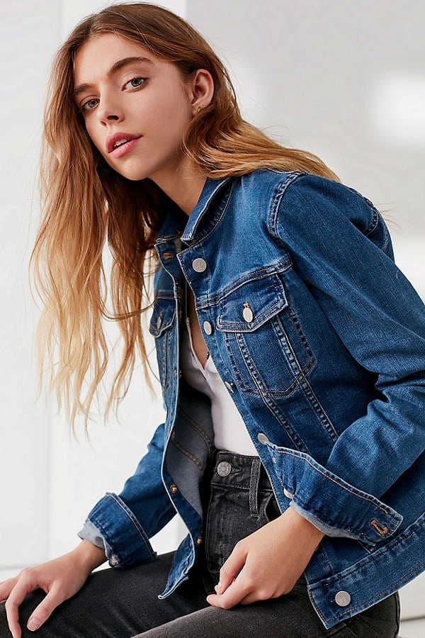 calvin klein denim trucker jacket jean urban outfitters