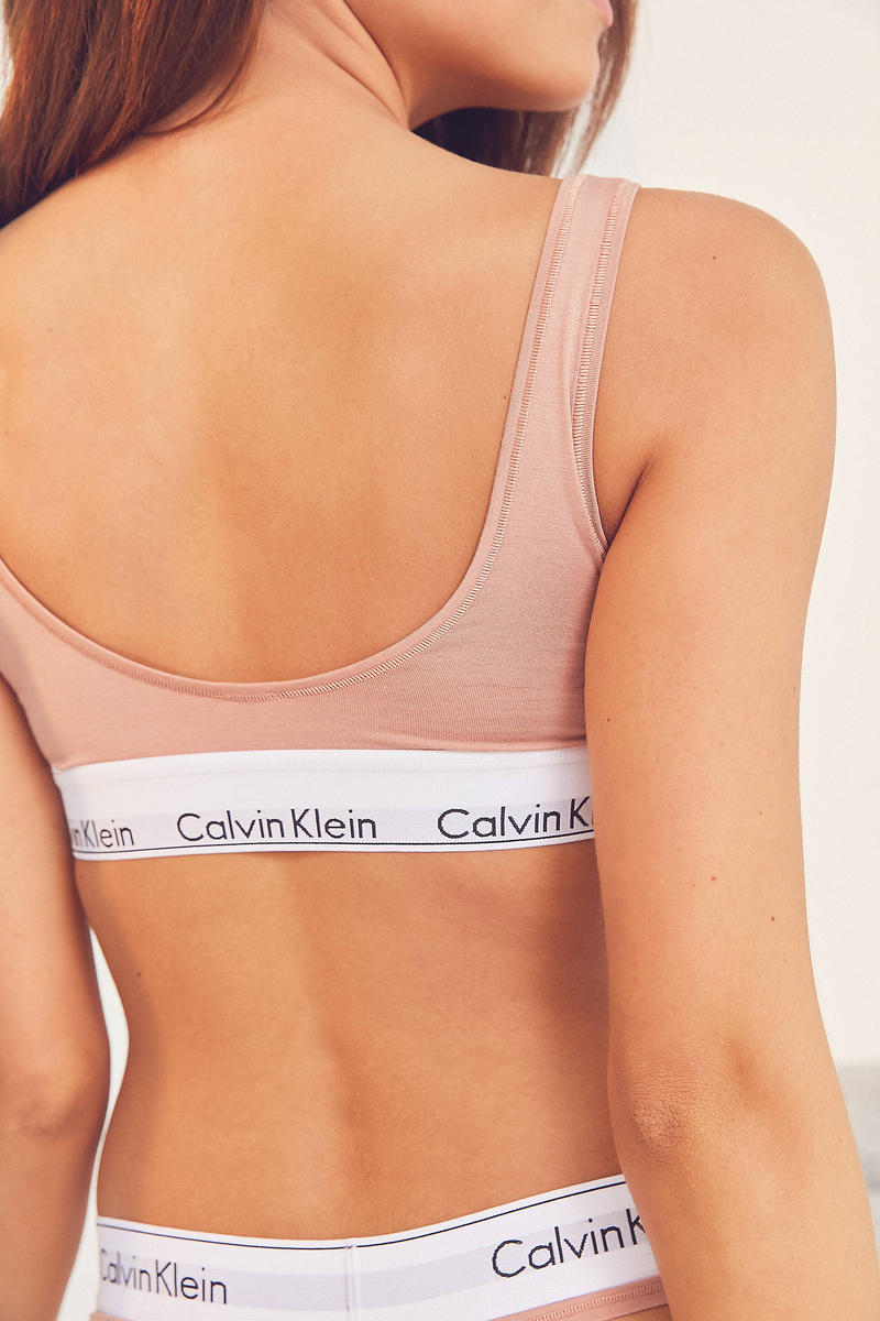 Calvin Klein Rose U-Back Bra Urban Outfitters Underwear Pink Cute Comfortable