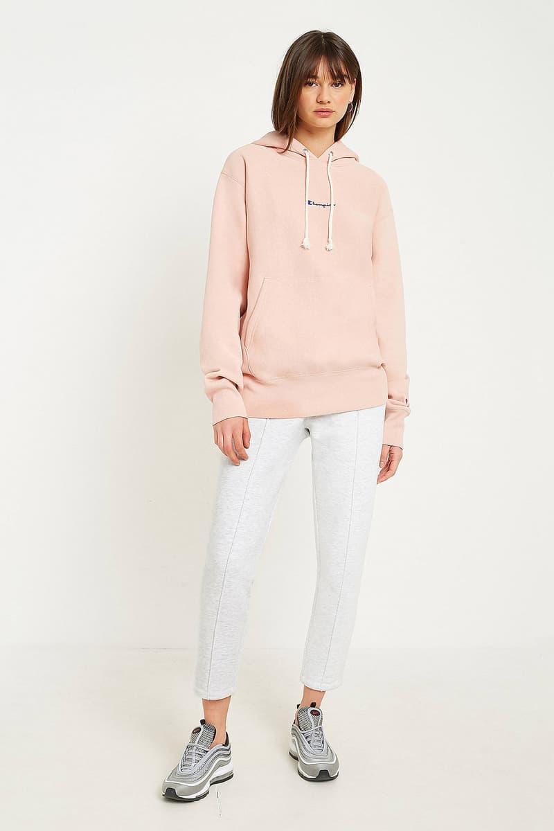 champion womens hoodie dusty rose pastel pink hoodie