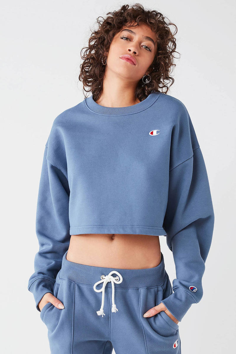 be459cfb7cb Champion Urban Outfitters Cropped Sweatshirt Joggers Ocean Blue