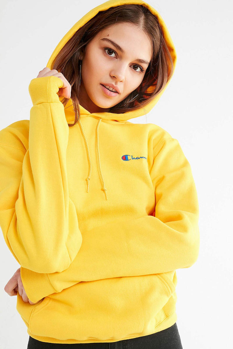 Champion Urban Outfitters Reverse Weave Hoodie Blush