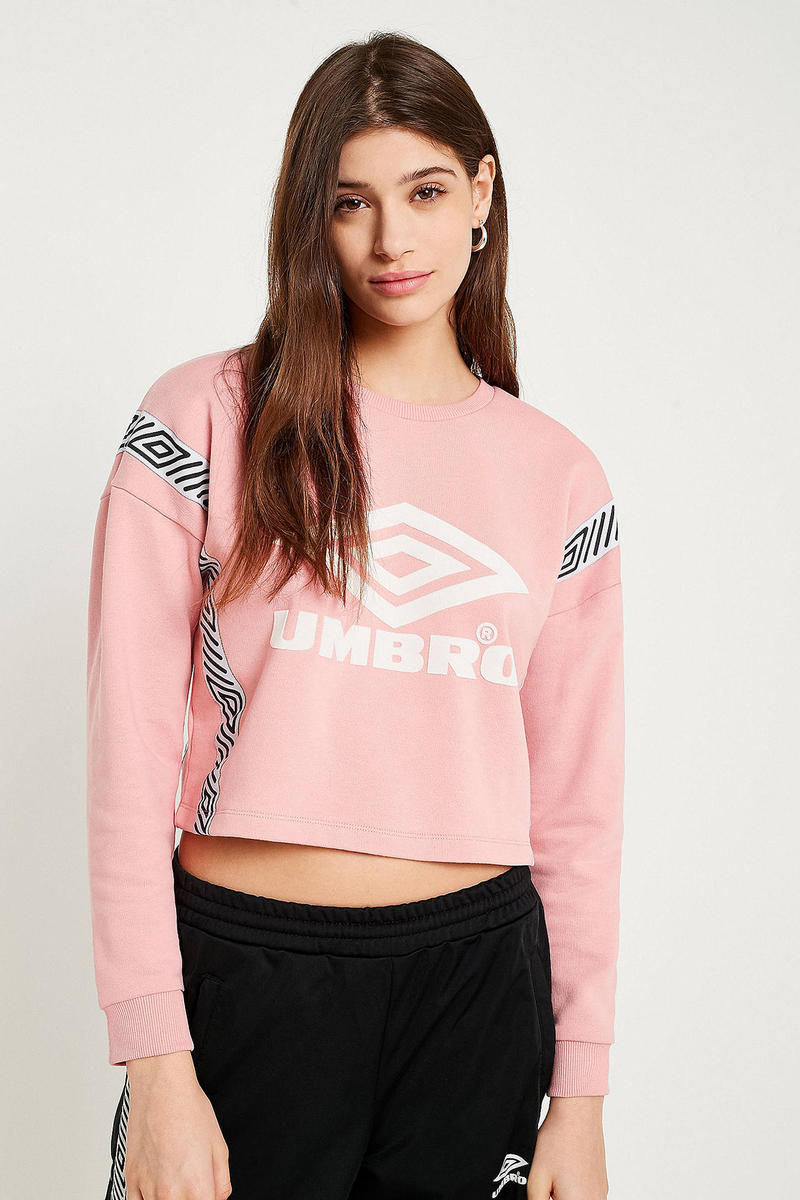 Brighten up the Winter Days with This Pink Cropped Umbro Sweatshirt. Better  than an ugly holiday sweater. e23a0a2d50105
