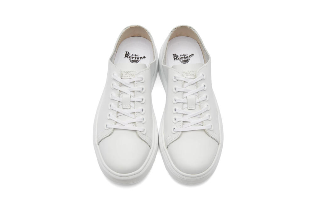 dr martens minimalist dante sneakers black white leather low top