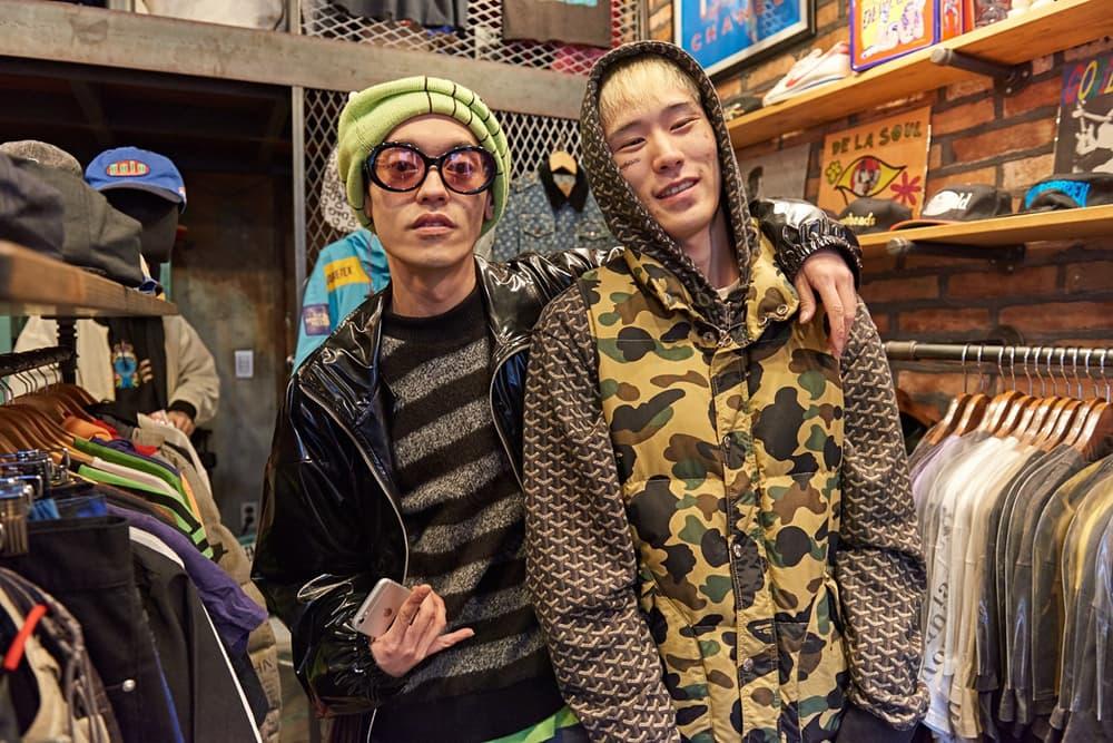 okasian japanese streetwear seoul korea dumdum vintage store pop up bape undercover comme des garcons
