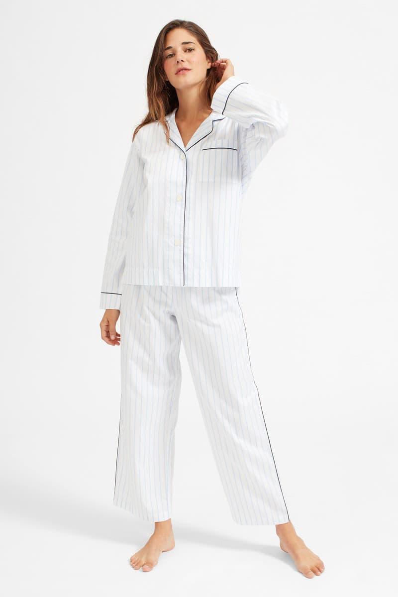 everlane pjs pajamas oxford silk matching