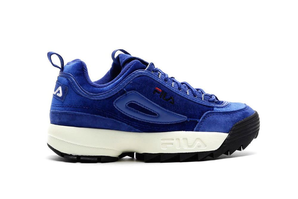 "FILA Disruptor Low ""Royal Blue"" Sneaker Shoe Silhouette Chunky Bright Color Classic"