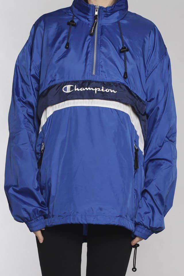 Frankie Collective Champion Windbreaker Jacket Tshirt Hoodie Rework Vintage