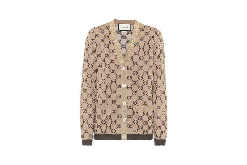 Gucci GG Jacquard Wool Cardigan
