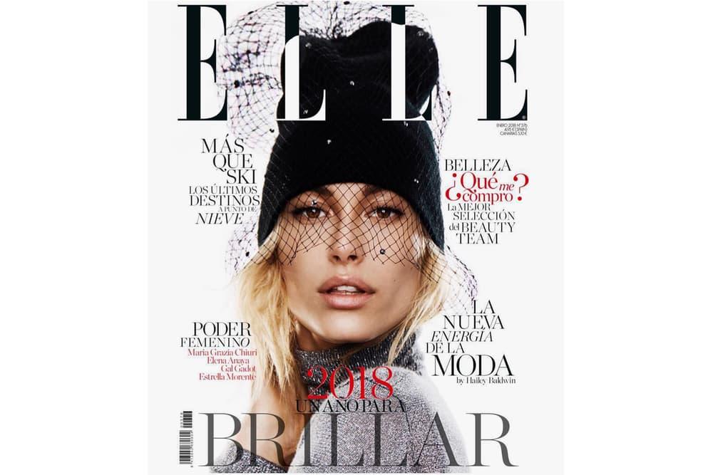 Hailey Baldwin ELLE Spain Cover Magazine January Issue Model Classy Nino Muñoz