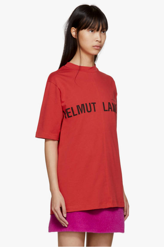 Helmut Lang Campaign T-hirt Hoodie Red