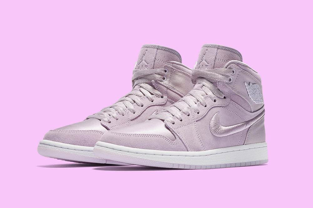 jordan brand air jordan 1 retro high pastel blue grape silt red sunset suede satin