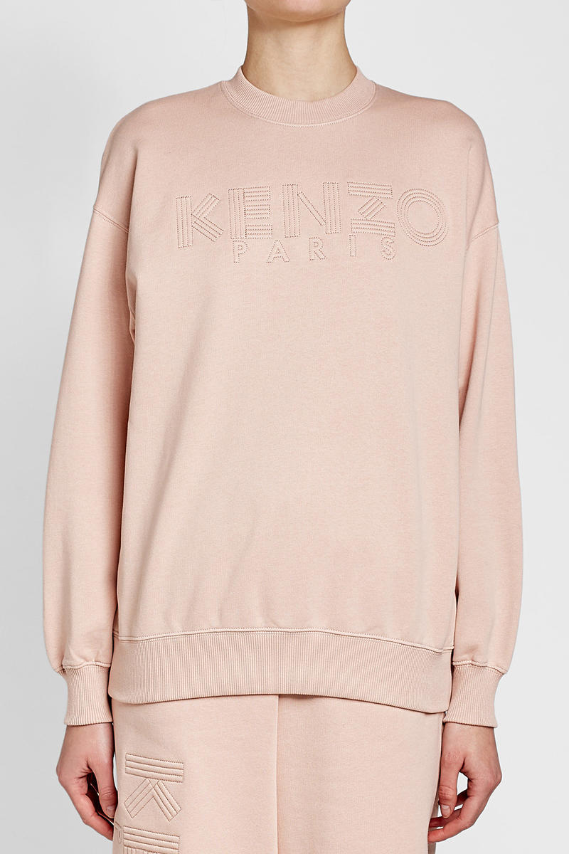 Kenzo Cotton Sweatshirt Cropped Sweatpants Pink