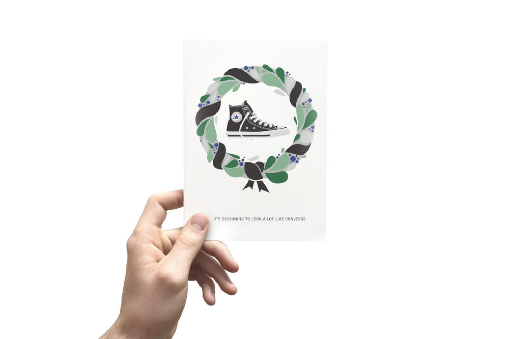 Kicksmas cards christmas holiday greetings card sneakers sneakerhead gift