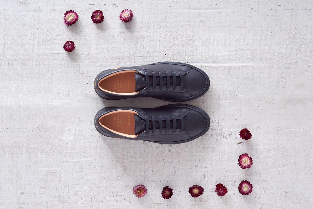 Koio Collective The Flower Shop Sneakers Premium Leather Shoes Embroidery Simple Classic Restaurant Collaboration Limited Edition