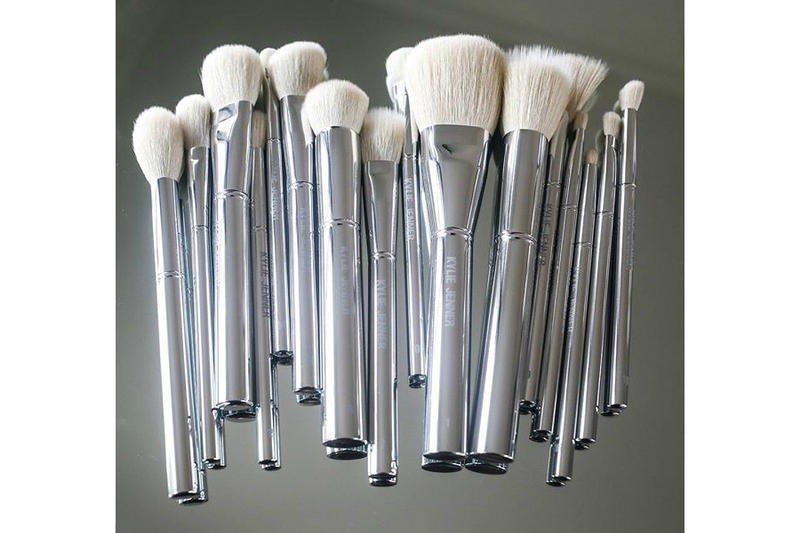 Kylie Jenner Cosmetics Silver Series Makeup Brush Collection