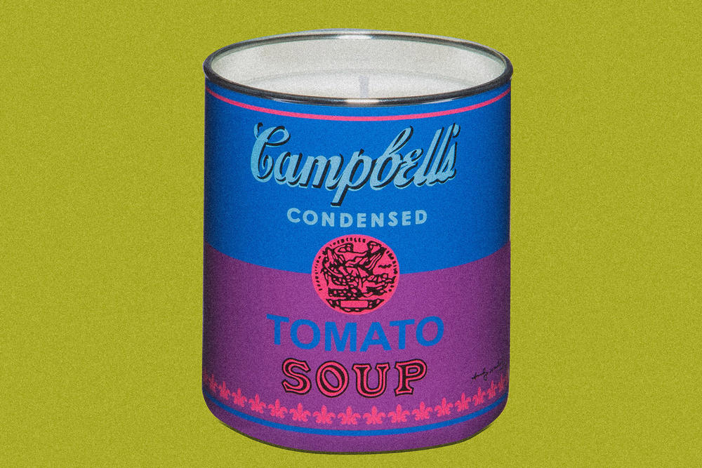 ligne blanche brillo box campbells soup can andy warhol jean-michel basquiat keith haring candle