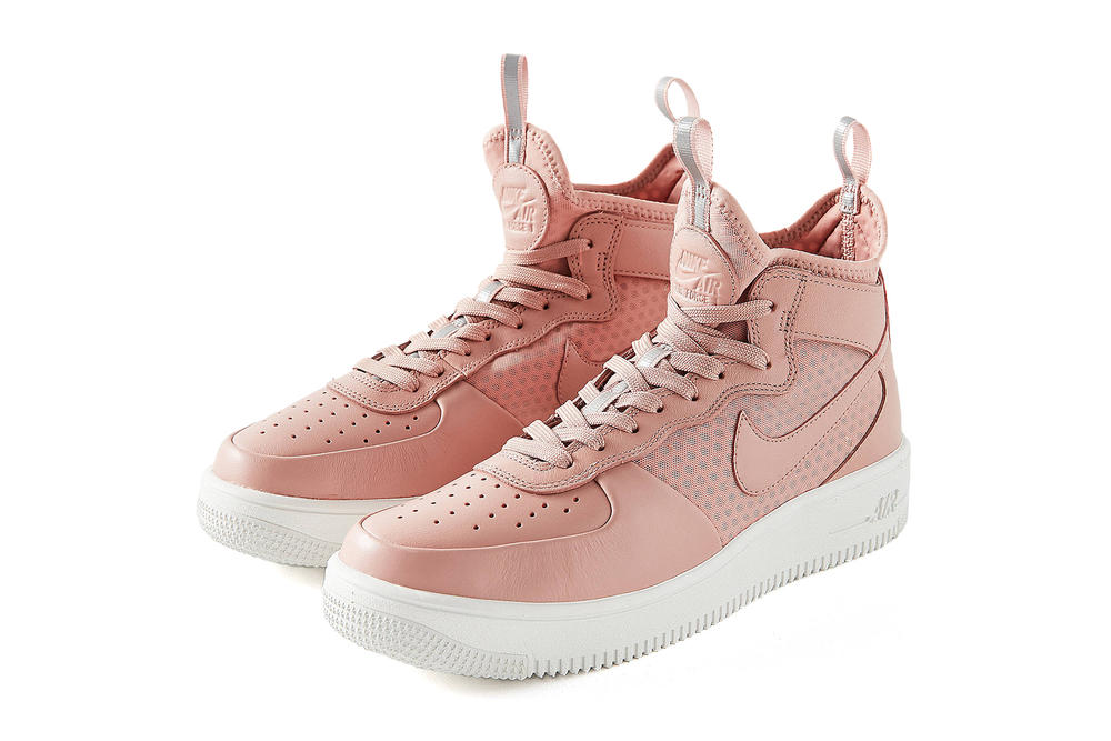 Nike Air Force 1 UltraForce Mid pastel millennial pink urban outfitters