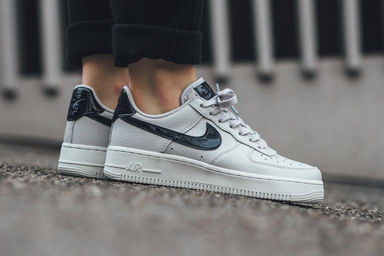 nike air force 1 vast grey black leather