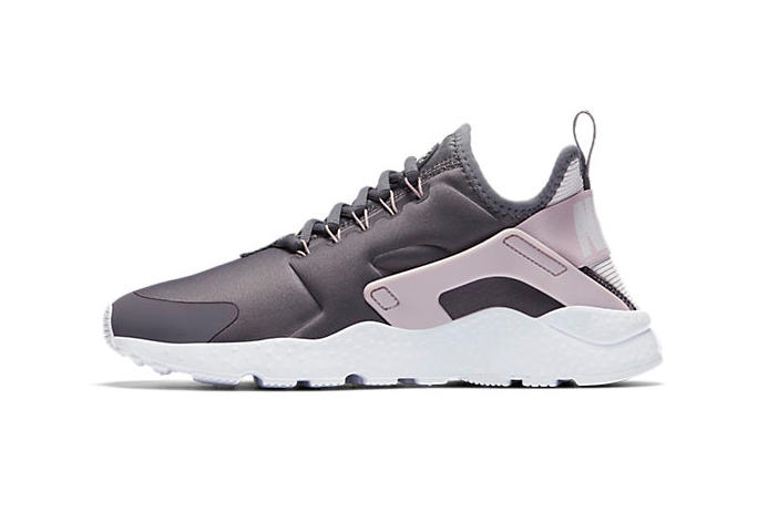 71077ff3956d Accented by light pink. Nike Air Huarache Ultra Gunsmoke Particle Rose  Purple