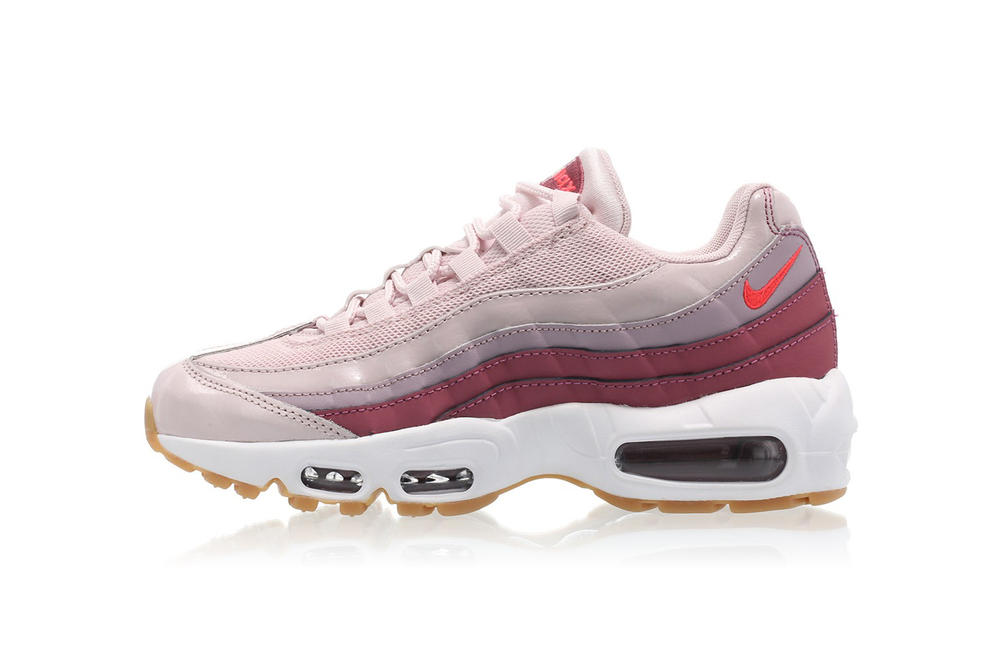 best website 97d3f 905cb Nike Air Max 95 Barely Rose Hot Punch Vintage Wine White Pink