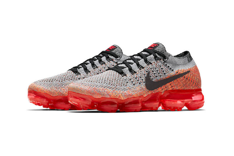 nike air vapormax wolf grey bright crimson red womens ladies girls sneakers