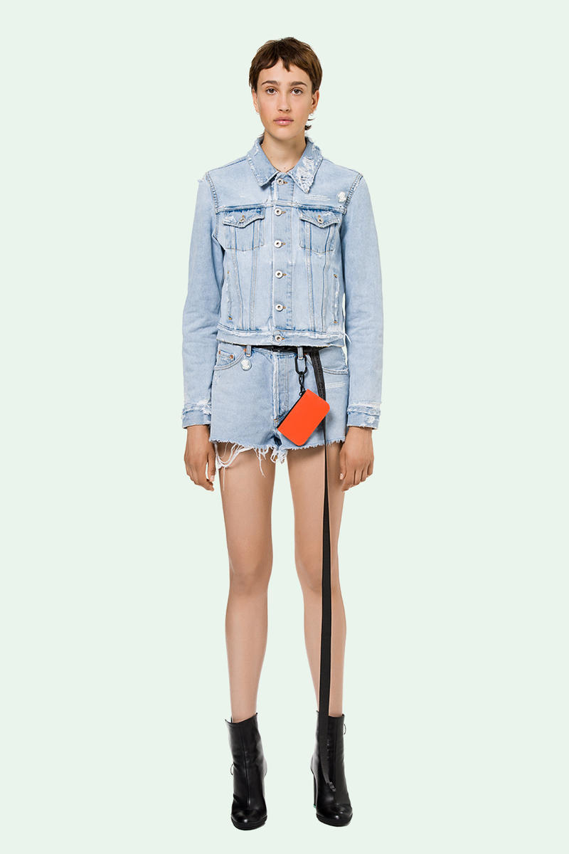 Pre-Order Off-White™ Spring/Summer Collection Virgil Abloh Denim Industrial Belts Bags Dresses Statement Pieces Streetwear