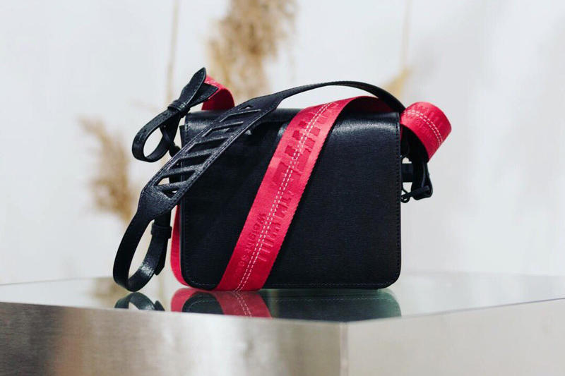 Off-White Toronto One Year Anniversary Binder Clip Bag Black Red Industrial Strap Virgil Abloh Canada