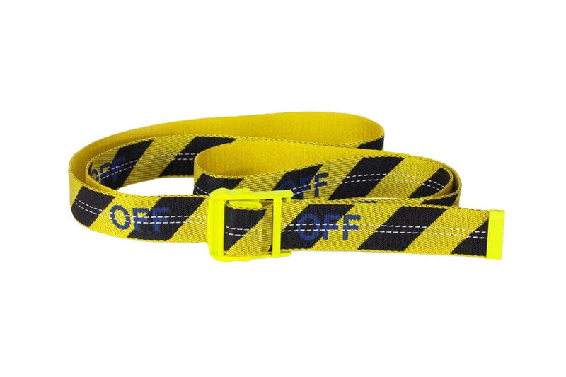 off-white off white virgil abloh industrial belt red white yellow black transparent rubber SS18 spring summer 2018