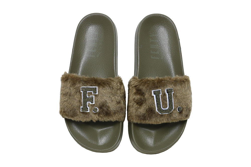 Rihanna Fenty PUMA F.U. Fur Slides Burnt Olive Fall Winter 2017 Leadcat c1aff574a5eb