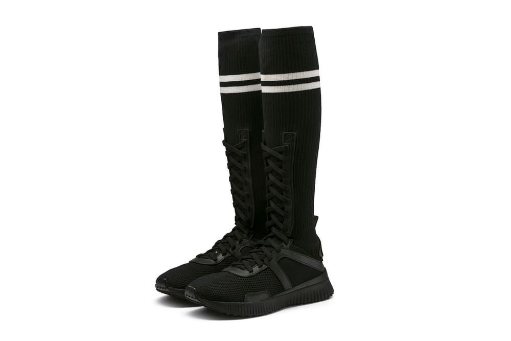 Rihanna PUMA Fenty Trainer Hi Sock Trainers Sneakers Vanilla Ice Black Red c2dc19c0e