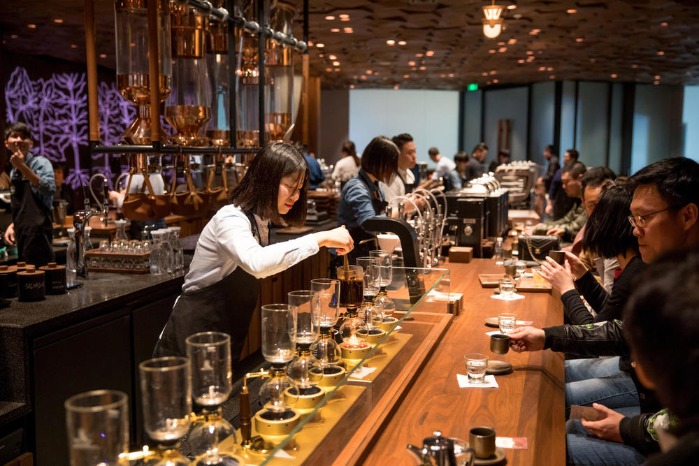 Starbucks Premium Coffee Roastery Shanghai Cafe Restaurant Brewery Tea AR Augmented Reality China