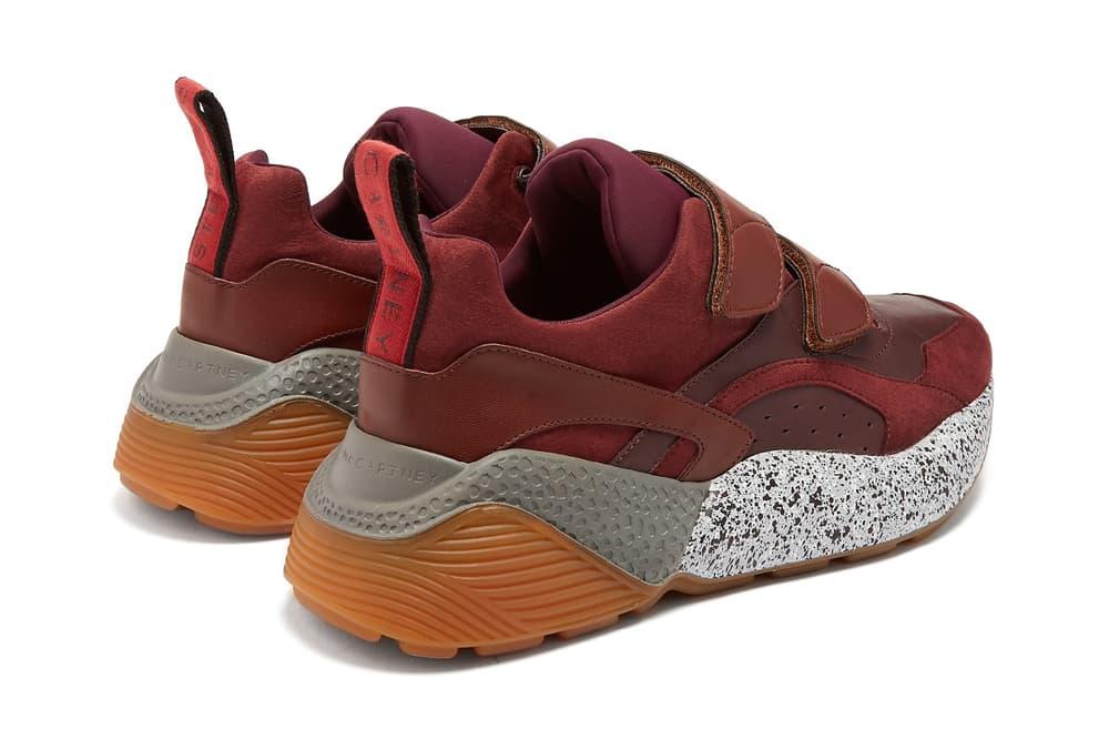 Stella McCartney eclypse chunky sneaker vegan red velcro strap