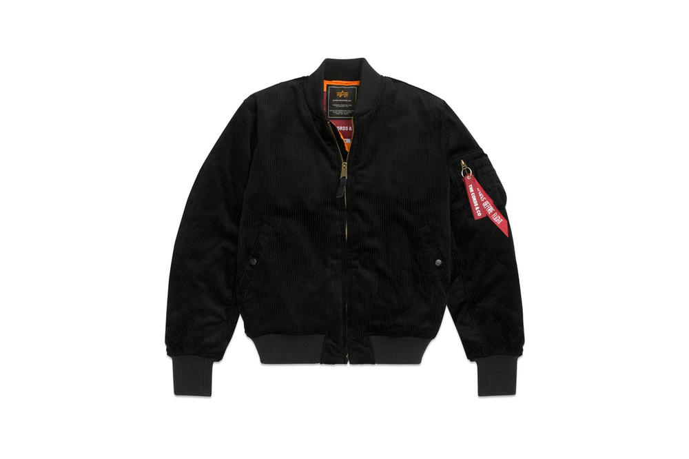 The Cords & Co Alpha Industries Corduroy Jackets Collaboration Bomber