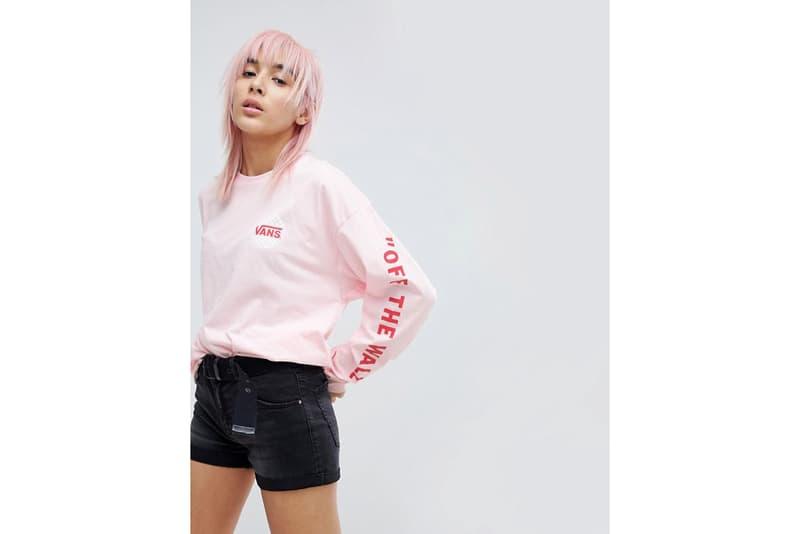 Vans ASOS Oversized Long Sleeve T-Shirt Pink