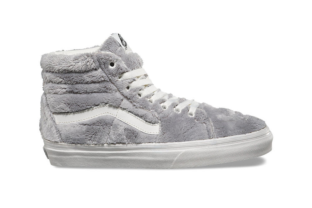 Vans Sherpa Sk8-Hi Old Skool Grey White Drizzle Turtledove Fur Furry Sneakers