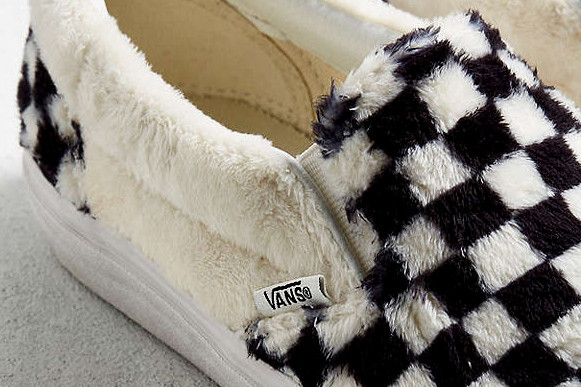 double coupon bottom price factory Shop Vans' Slip-On Checkerboard Sherpa at UO | HYPEBAE