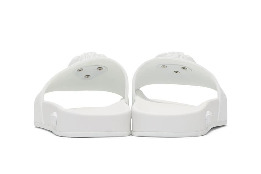 Versace White Medusa Slides SSENSE Pool Beach Shoes