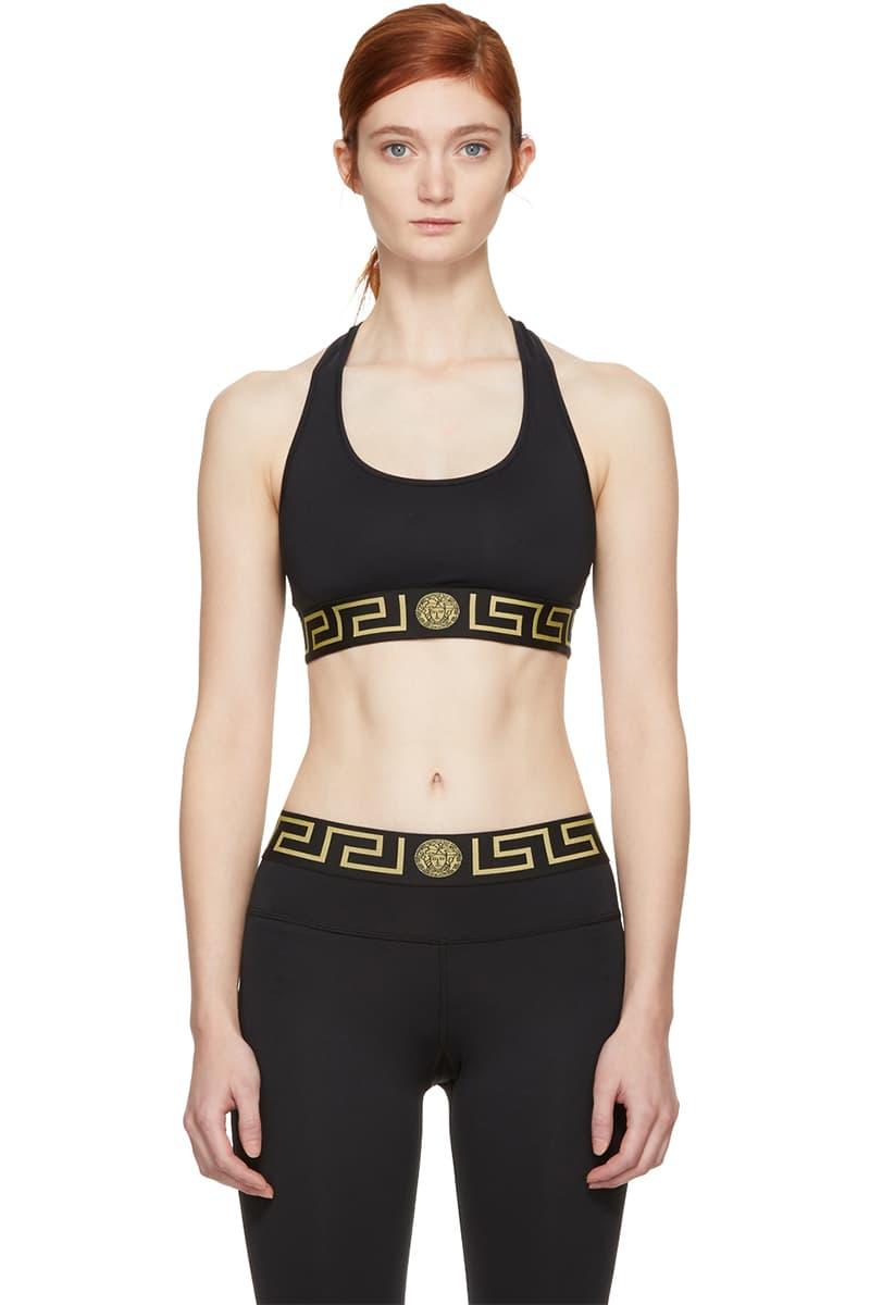 812b12266 Versace black gold logo womens underwear ssense lingerie