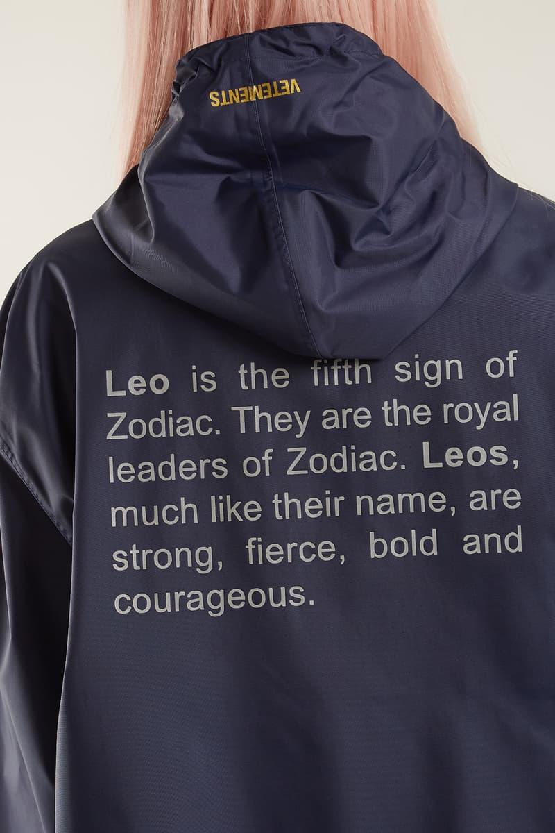 Vetements Spring Summer 2018 Zodiac Sign Horoscope Raincoat Definition MATCHESFASHION Demna Gvasalia