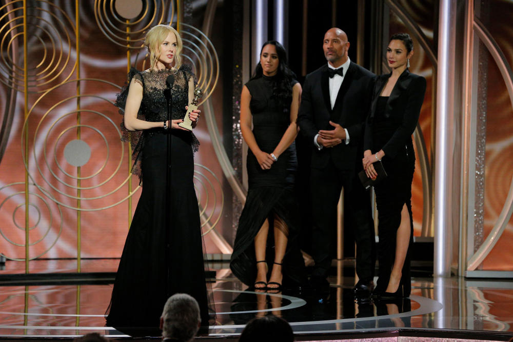 Golden Globes 2018 Awards Full List of Winners Seth Meyers Nicole Kidman Handmaids Tail Stranger Things David Harbour Nominations Me Too Time's Up Movement Entertainment