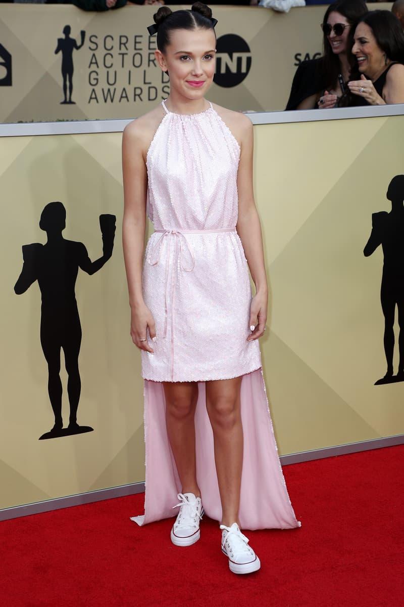 2018 SAG Awards Red Carpet Look Gala Millie Bobby Brown Nicole Kidman Lupita Nyong'o Halle Berry