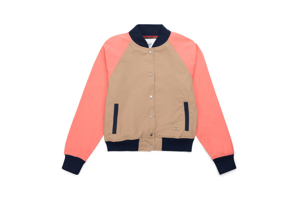 Shop Herschel Supply New Pink Jackets Outerwear Raincoat Bomber Jacket Simple Minimal