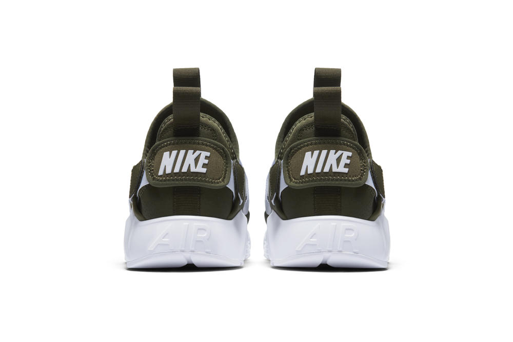 Nike Air Huarache City Low Sneaker Silhouette Shoe Khaki Particle Rose Black White Sole Retro Silhouette Street Style Shoe