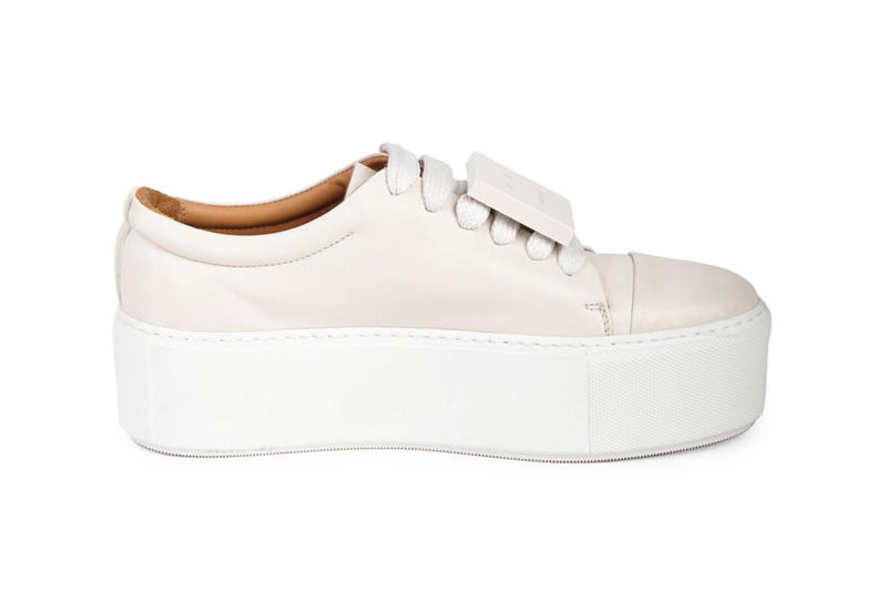 0208b3f3ee Acne Studios Drihanna Nappa Leather Platform Sneakers Black White Smiley  Face Shoes